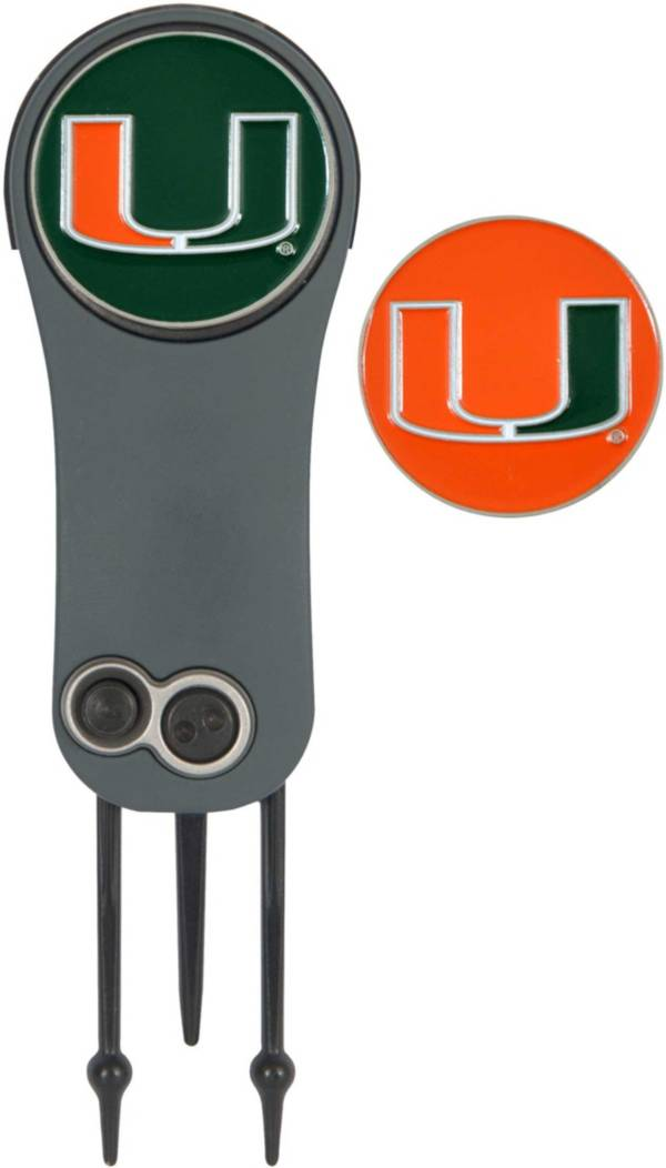 Team Effort Miami Hurricanes Switchblade Divot Tool and Ball Marker Set product image