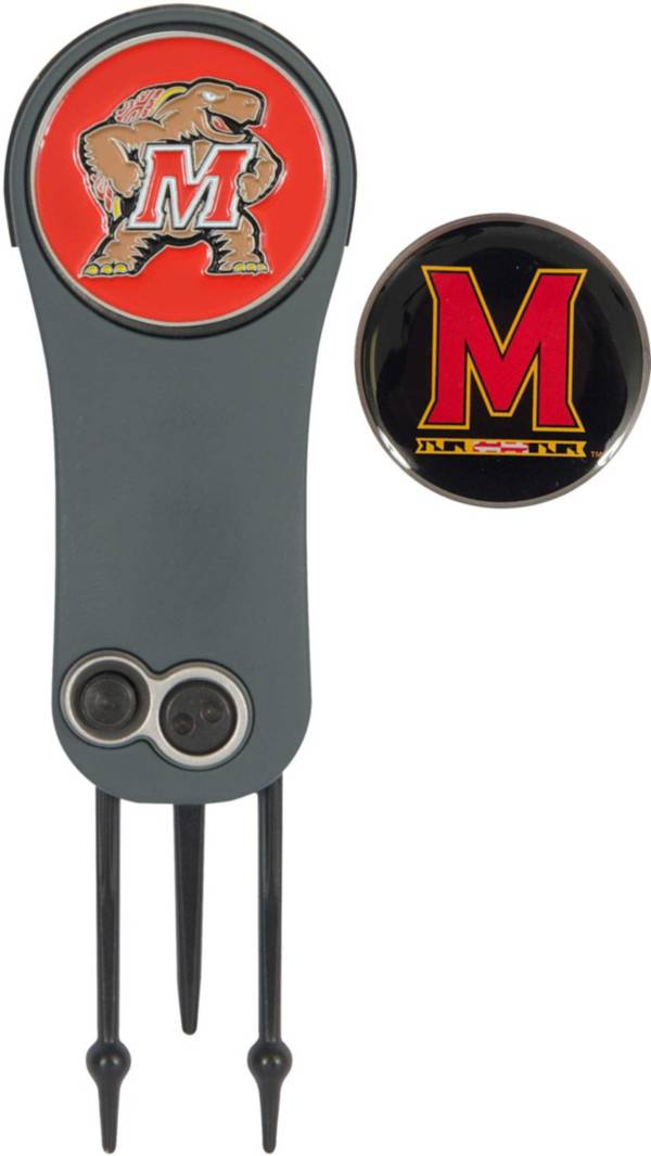Team Effort Maryland Terrapins Switchblade Divot Tool and Ball Marker Set product image
