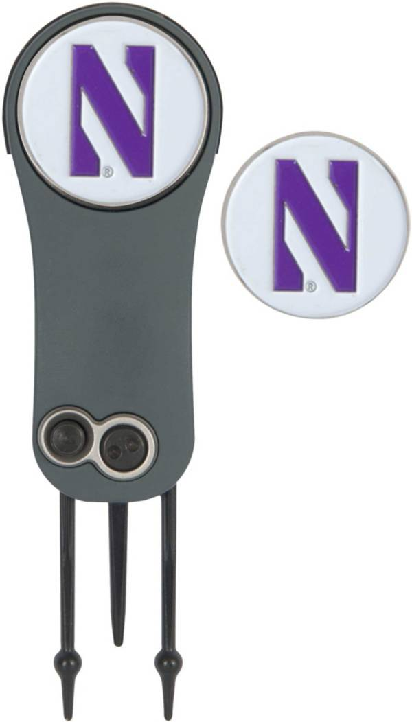 Team Effort Northwestern Wildcats Switchblade Divot Tool and Ball Marker Set product image