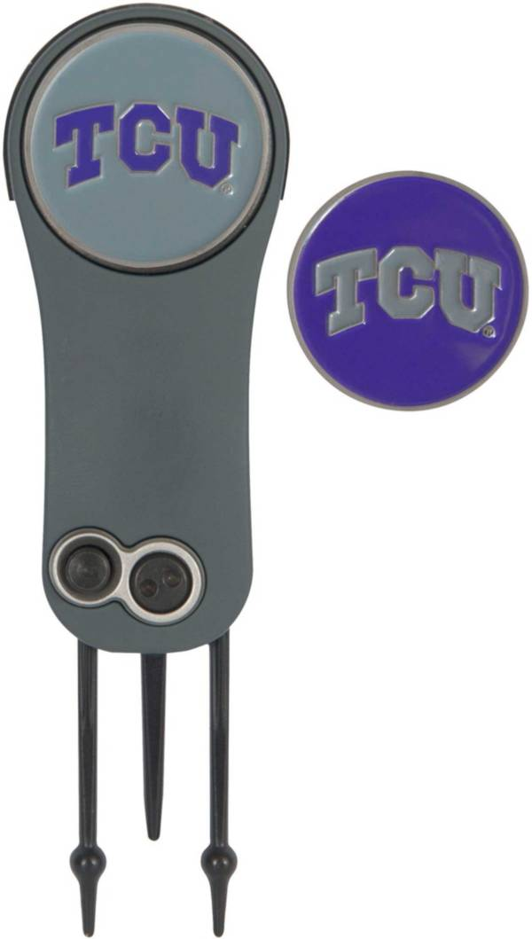 Team Effort TCU Horned Frogs Switchblade Divot Tool and Ball Marker Set product image
