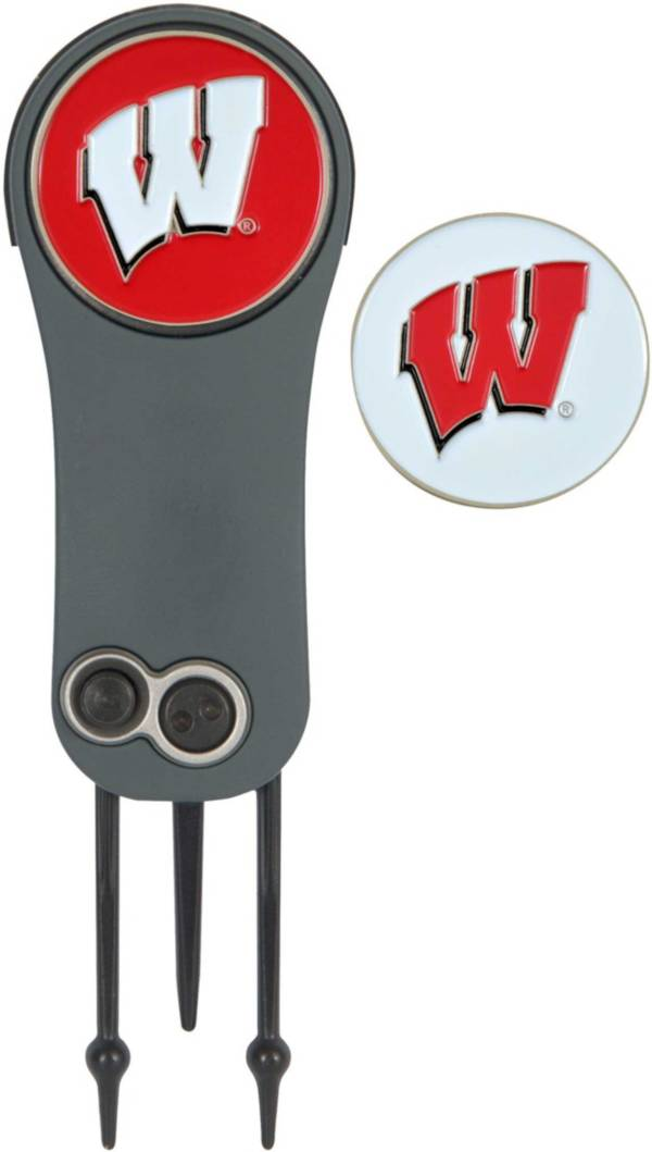 Team Effort Wisconsin Badgers Switchblade Divot Tool and Ball Marker Set product image