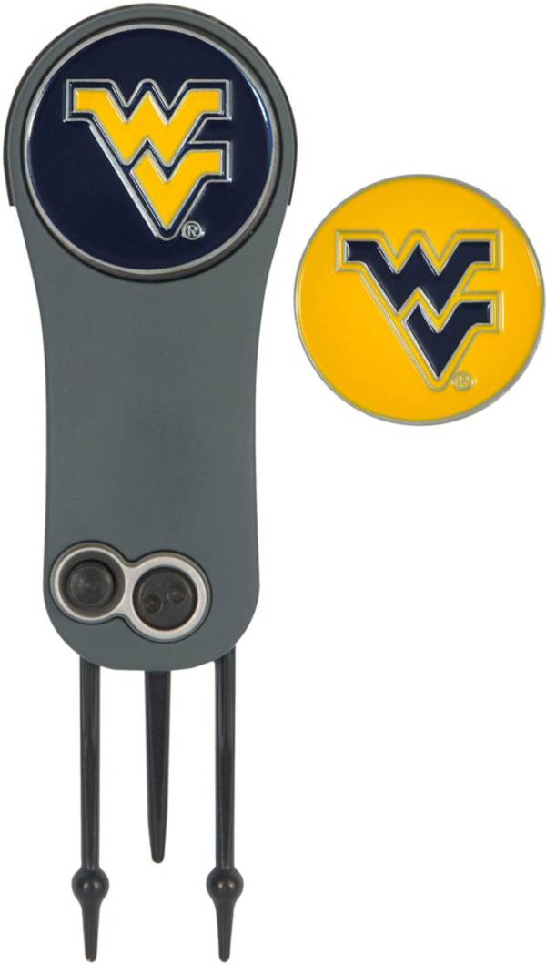 Team Effort West Virginia Mountaineers Switchblade Divot Tool and Ball Marker Set product image