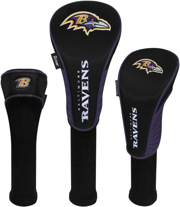 Team Effort Baltimore Ravens Headcovers - 3 Pack product image