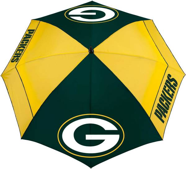 "Team Effort Green Bay Packers 62"" Windsheer Lite Golf Umbrella product image"
