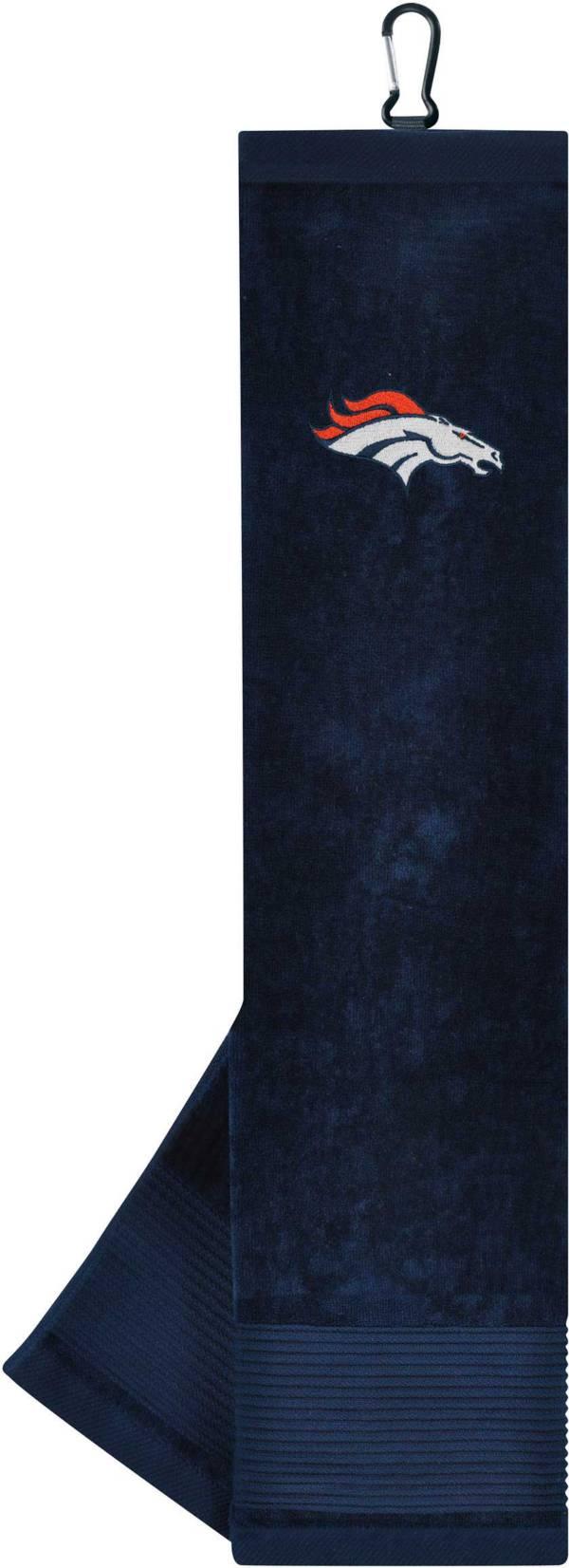 Team Effort Denver Broncos Embroidered Face/Club Tri-Fold Towel product image
