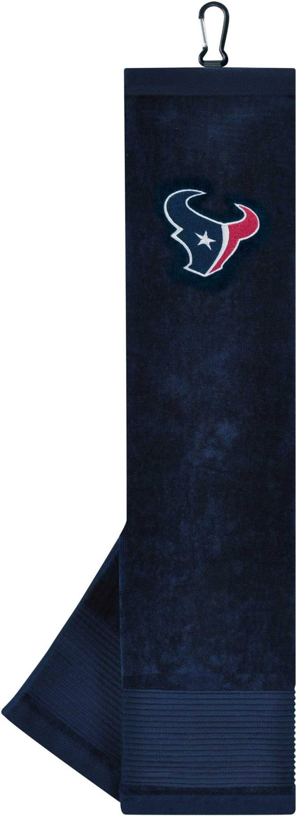 Team Effort Houston Texans Embroidered Face/Club Tri-Fold Towel product image