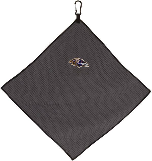 "Team Effort Baltimore Ravens 15"" x 15"" Microfiber Golf Towel product image"