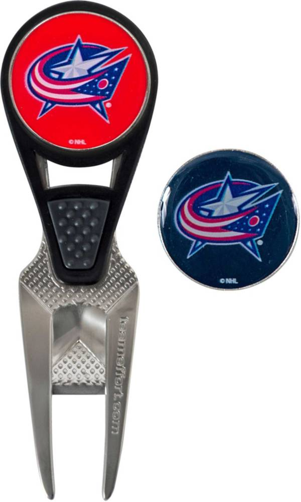 Team Effort Columbus Blue Jackets CVX Divot Tool and Ball Marker Set product image