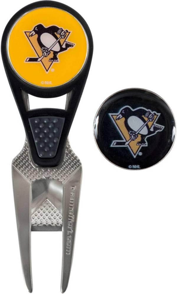 Team Effort Pittsburgh Penguins CVX Divot Tool and Ball Marker Set product image