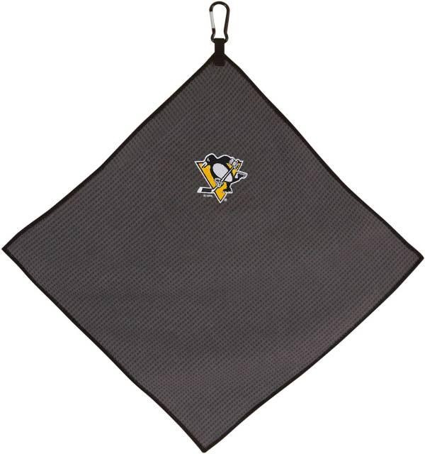 "Team Effort Pittsburgh Penguins 15"" x 15"" Microfiber Golf Towel product image"