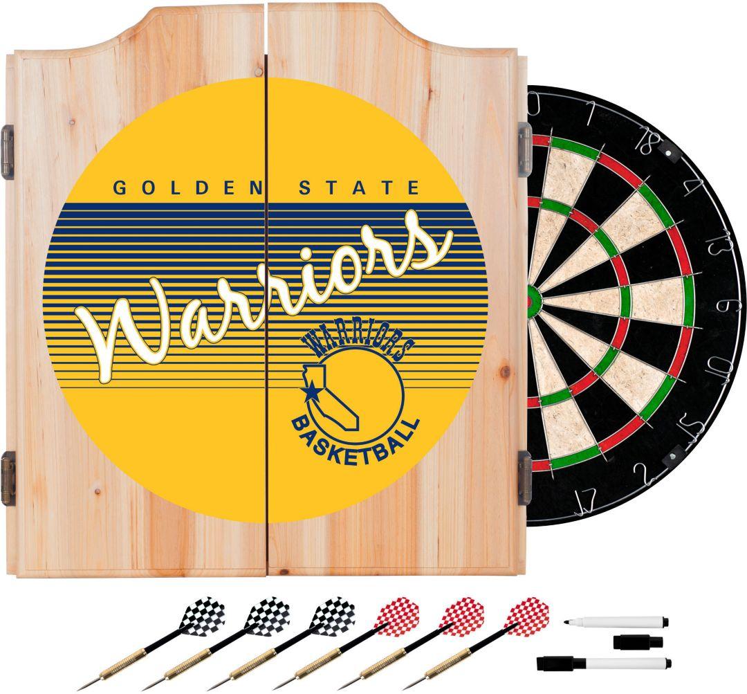 reputable site 4c123 f3d8c Trademark Global Golden State Warriors Hardwood Classic Dart Set