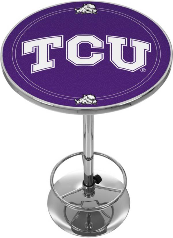 Trademark Global TCU Horned Frogs Chrome Pub Table product image