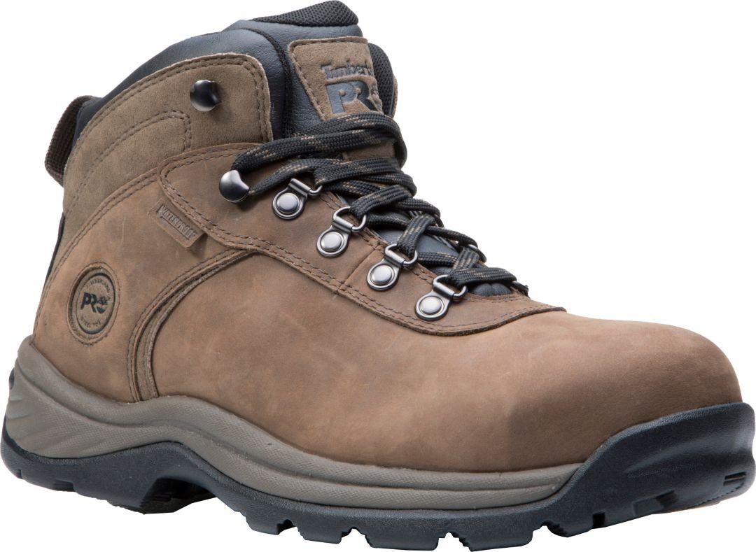 28d5be04 Timberland PRO Men's Flume Mid Waterproof Steel Toe Work Boots