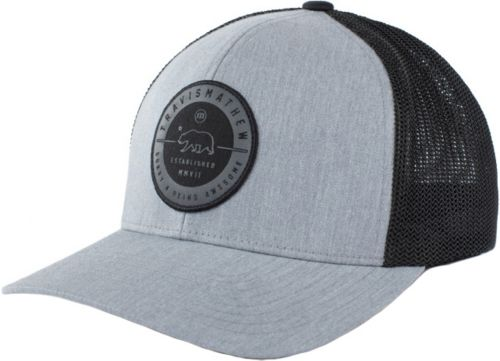 854d2cbc426 TravisMathew Men s Black Bear Flexfit Golf Hat 1