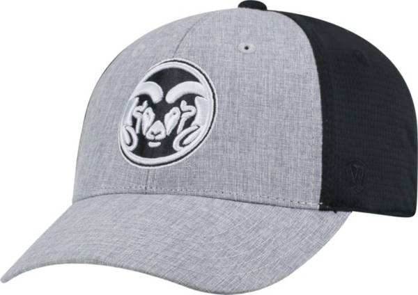 Top of the World Men's Colorado State Rams Grey/Black Faboo 1Fit Hat product image