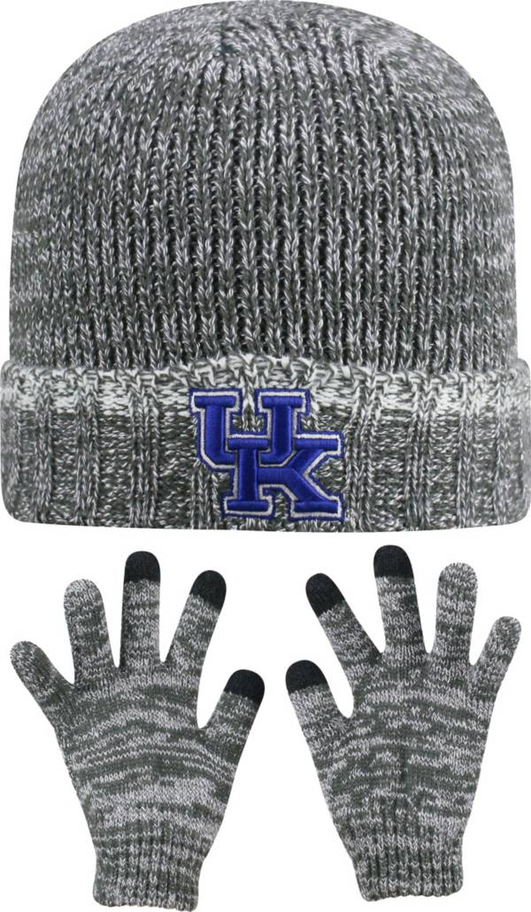 Top of the World Youth Kentucky Wildcats Grey Lil Cyber Beanie and Gloves Set product image