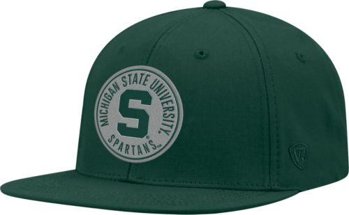 buy popular 616a9 6c05b Top of the World Men s Michigan State Spartans Green Timey Adjustable Hat.  noImageFound. Previous