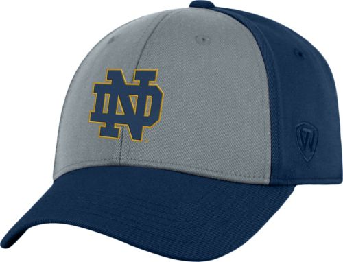 012174b916abe Top of the World Men s Notre Dame Fighting Irish Grey Navy Two Tone  Adjustable Hat. noImageFound. Previous