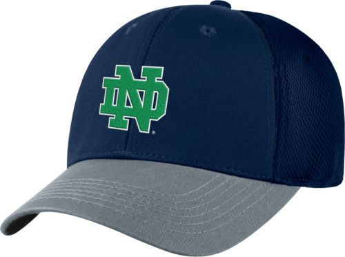 2b4a44aa9b3 Top of the World Men s Notre Dame Fighting Irish Navy Twill Elite Mesh 1Fit Flex  Hat. noImageFound. Previous