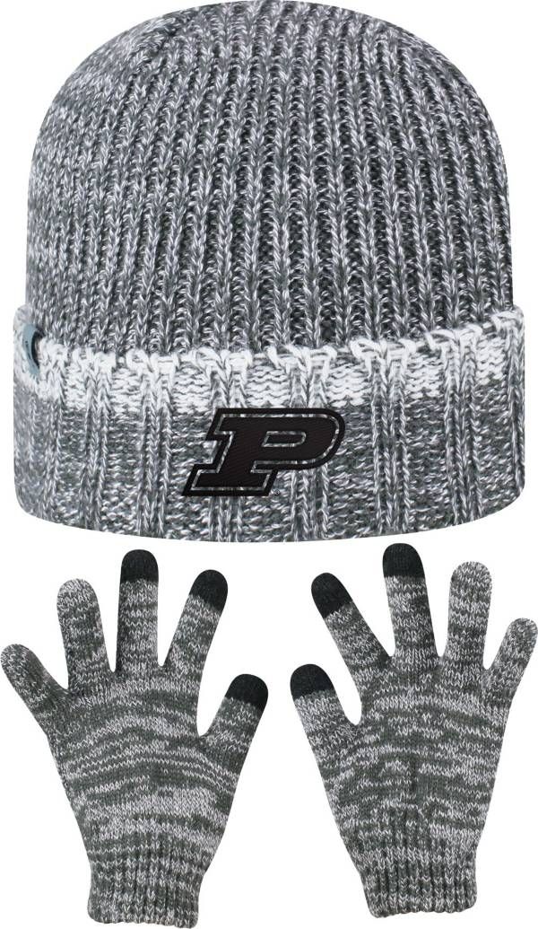 Top of the World Youth Purdue Boilermakers Grey Lil Cyber Beanie and Gloves Set product image