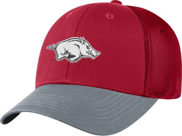 Top of the World Men's Arkansas Razorbacks Cardinal Twill Elite Mesh 1Fit Flex Hat product image