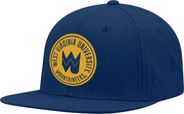 Top of the World Men's West Virginia Mountaineers Blue Timey Adjustable Hat product image