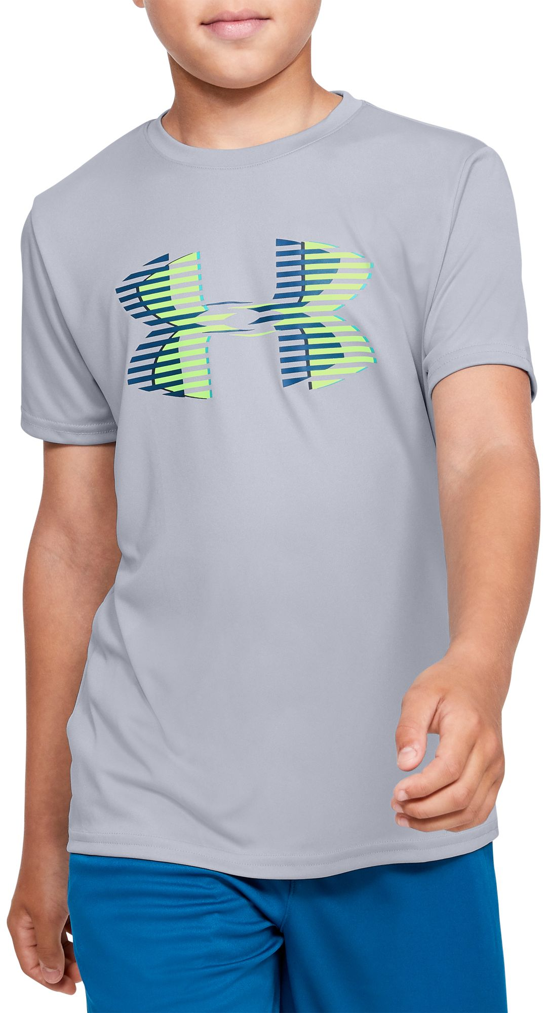 80cf9ed5 Under Armour Boys' Tech Big Logo Graphic Solid T-Shirt | DICK'S ...