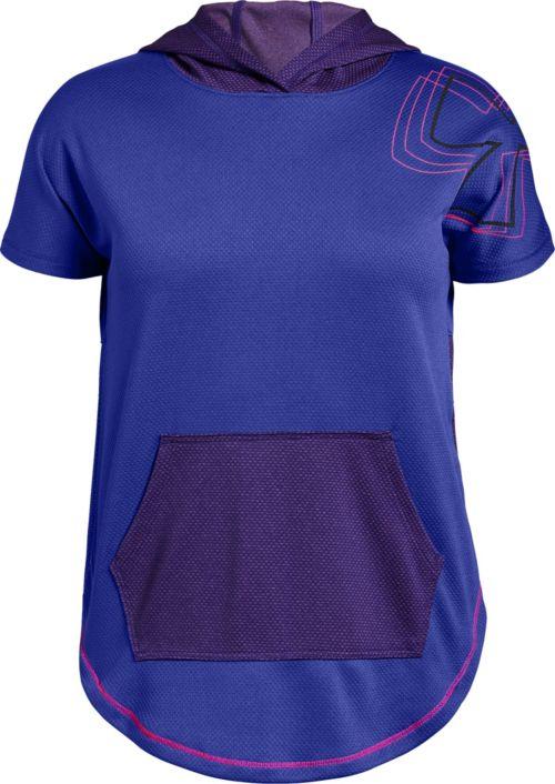 9dfc3b2c62508 Under Armour Girls' Tech Short Sleeve Hoodie | DICK'S Sporting Goods