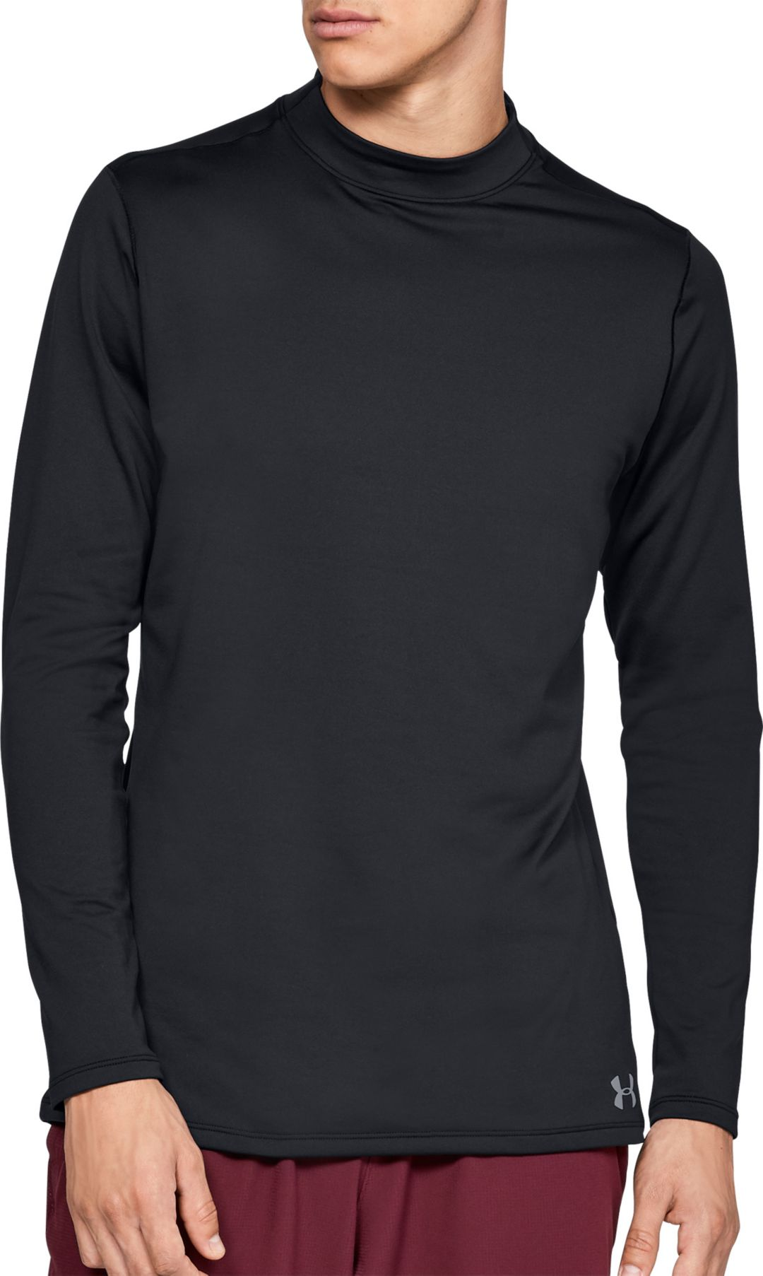 cb7360a1f Under Armour Men's ColdGear Armour Mock Neck Long Sleeve Shirt ...