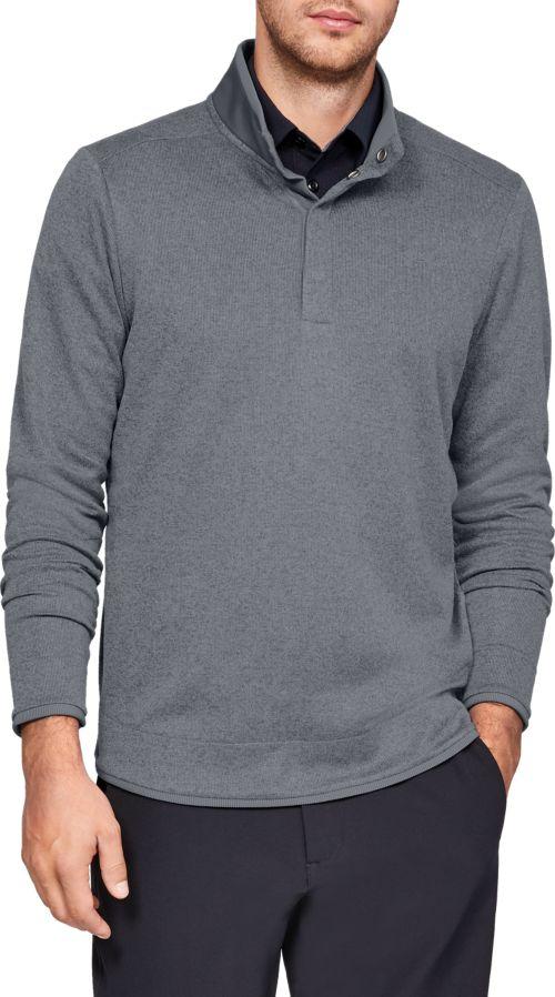 cb821ae28fe0be Under Armour Men s SweaterFleece Snap Mock Golf Pullover