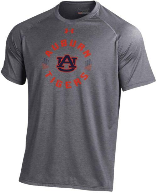 Under Armour Men s Auburn Tigers Grey Tech Performance T-Shirt ... 131a5fde4