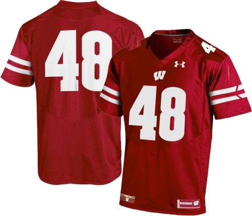 2df91b6b0 Under Armour Men s Wisconsin Badgers  48 Red Replica Football Jersey.  noImageFound. Previous. 1