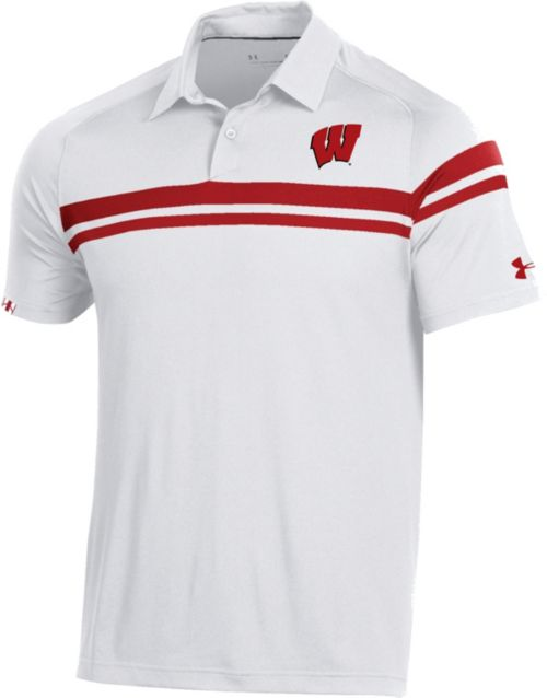 a3cff08a Under Armour Men's Wisconsin Badgers Sideline Tour Performance White ...