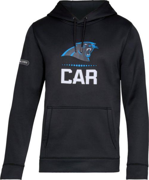 Under Armour NFL Combine Authentic Men s Carolina Panthers Lockup Armour  Fleece Black Hoodie. noImageFound. Previous 3765722a4
