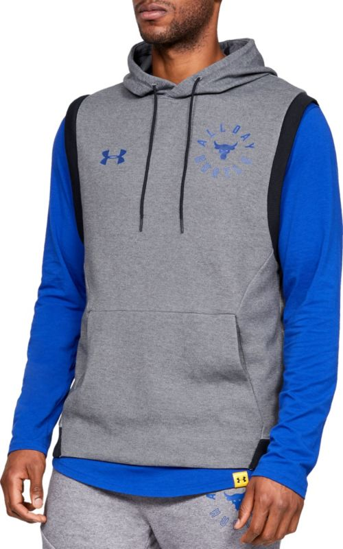 ff9735bce7 Under Armour Men s Project Rock Double Knit Sleeveless Hoodie.  noImageFound. Previous