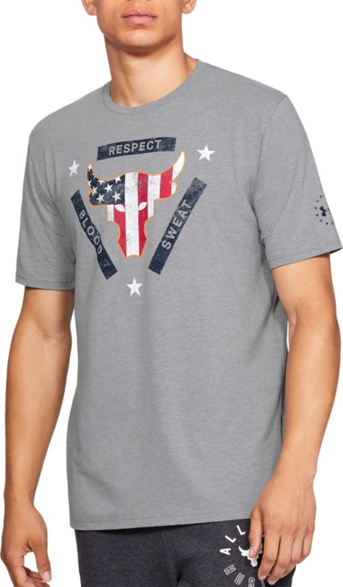 Under Armour Men s Project Rock USDNA Flag Graphic T-Shirt  120c949b99fc3
