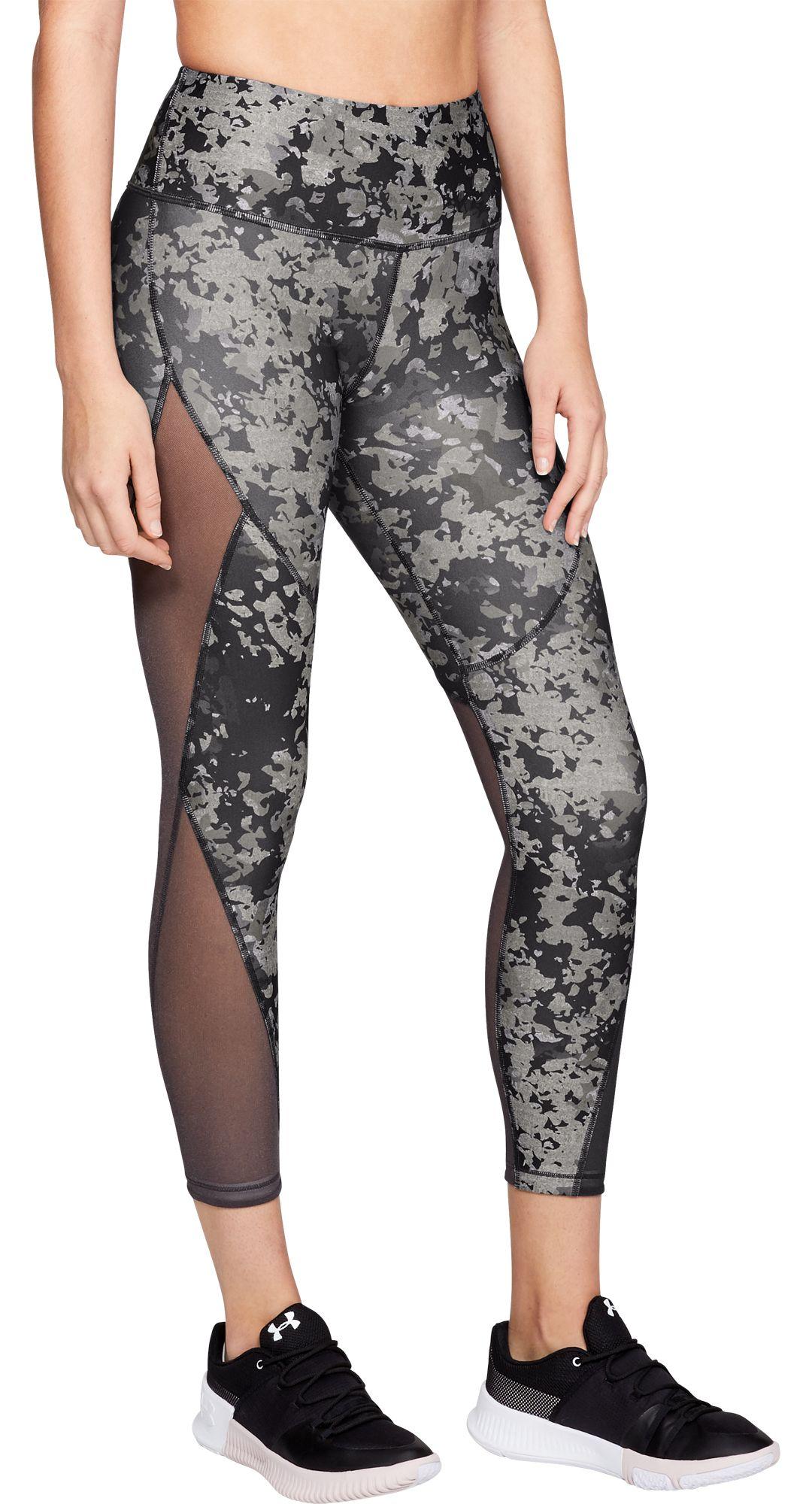 ea1a1ab6e6b848 Under Armour Women's HeatGear Armour Print Ankle Crop 7/8 Leggings.  noImageFound. Previous