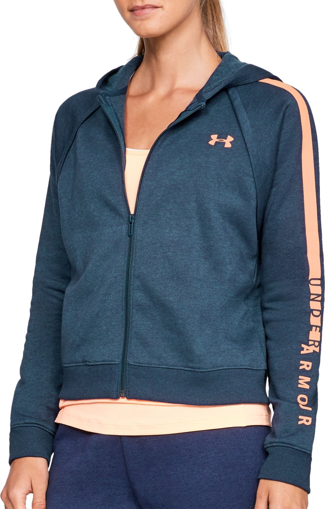 0b811ad7 Under Armour Women's Rival Fleece Full Zip Hoodie. noImageFound. Previous