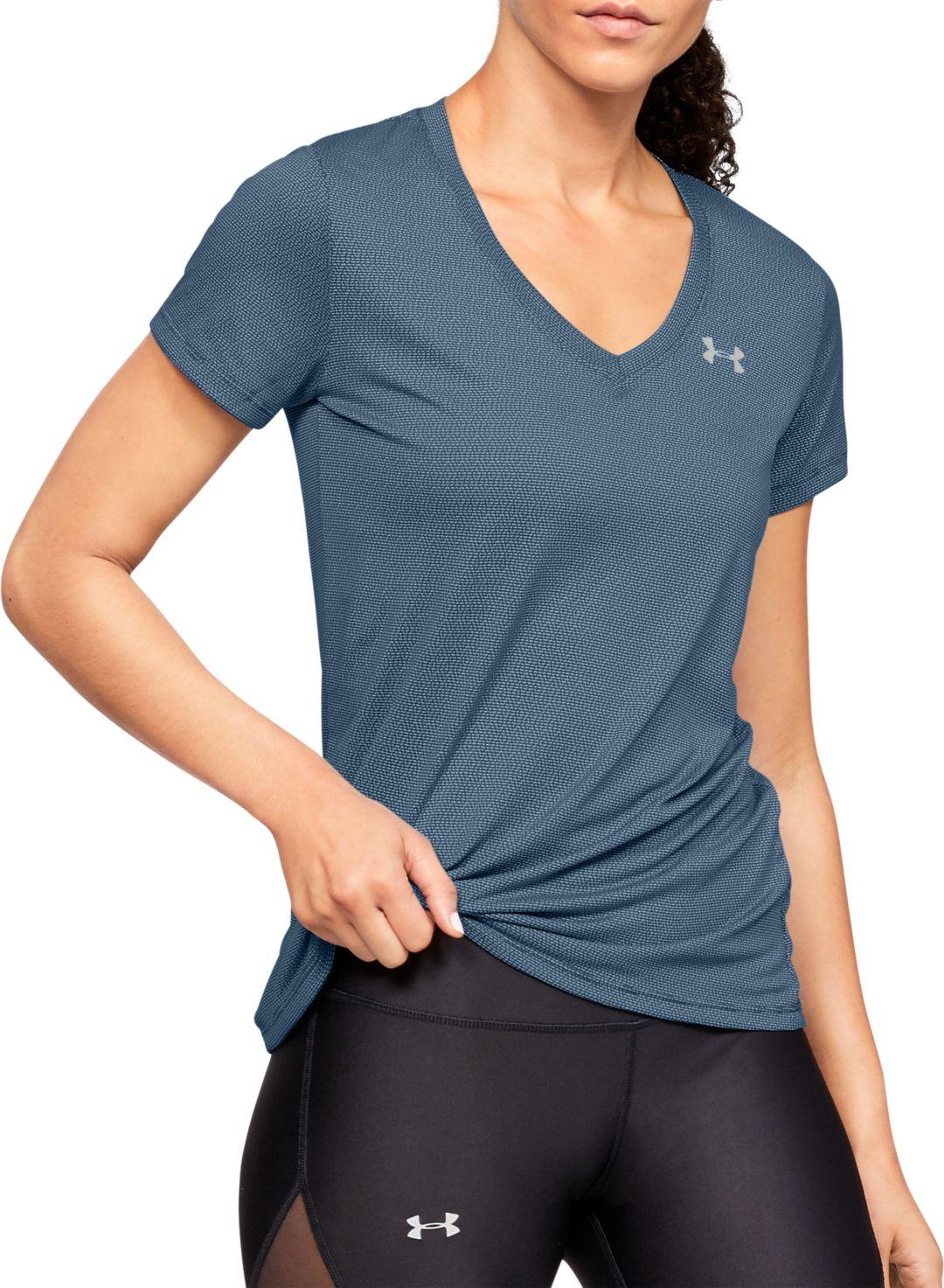 new style 40645 8d039 Under Armour Women s Tech Short Sleeve V-Neck Ticker T-Shirt ...