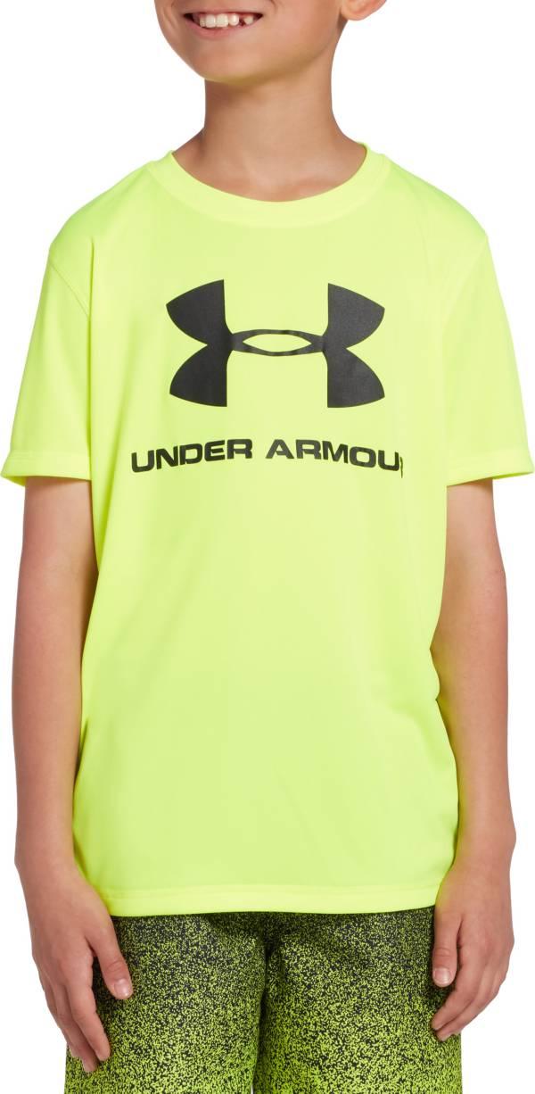 Under Armour Boys' Big Logo Short Sleeve Rash Guard product image
