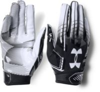 Royal Blue Size Large Under Armour Men/'s F6 Football Gloves White