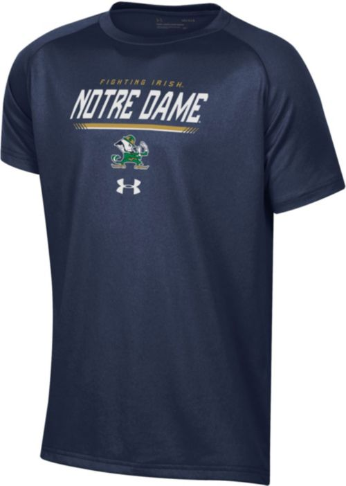 Under Armour Youth Notre Dame Fighting Irish Navy Tech Performance T-Shirt.  noImageFound. 1 d0477041e