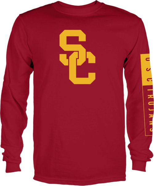 872706b0798 USC Authentic Apparel Men s USC Trojans Cardinal Blockade Long Sleeve Shirt.  noImageFound. 1