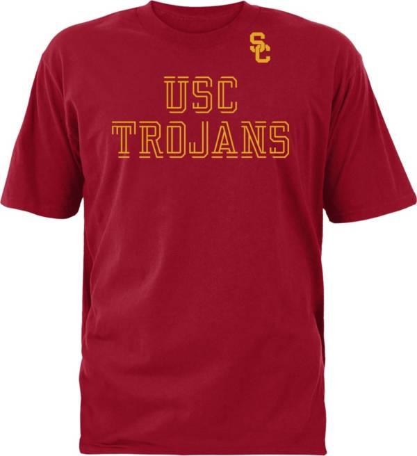 USC Authentic Apparel Youth USC Trojans Cardinal Double Cut T-Shirt product image