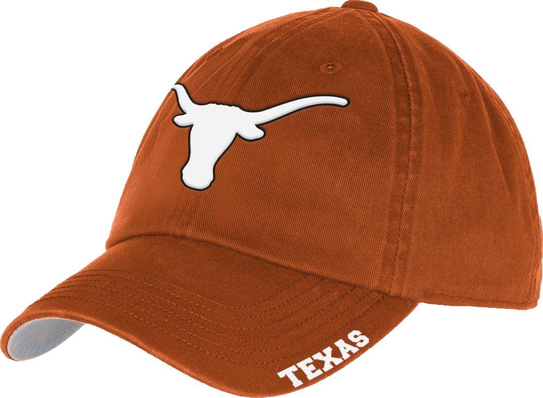 University of Texas Authentic Apparel Men's Texas Longhorns Burnt Orange  Basic Slouch Adjustable Hat