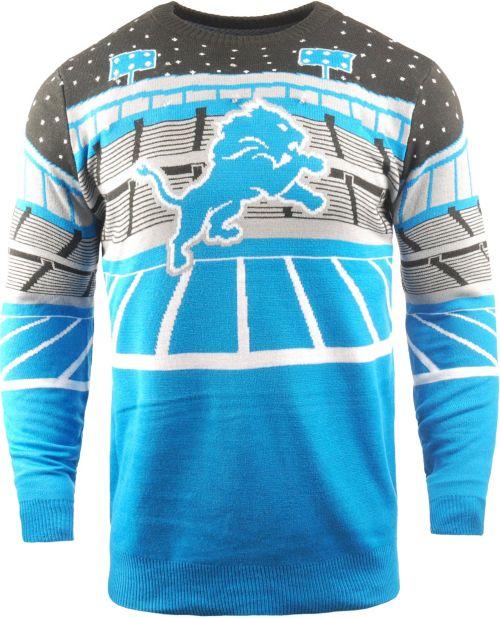 9062cec44e2 FOCO Men s Detroit Lions Bluetooth Blue Ugly Sweater. noImageFound. Previous