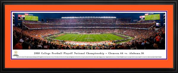 Blakeway Panoramas 2018 National Champions Clemson Tigers Deluxe Framed Panorama Poster product image