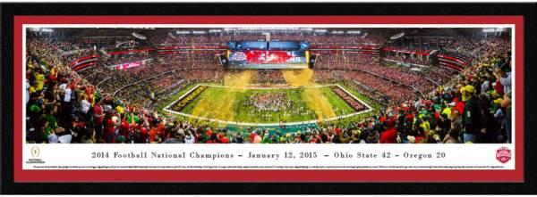 Blakeway Panoramas Ohio State Buckeyes 2014 National Championship Framed Panorama Poster product image