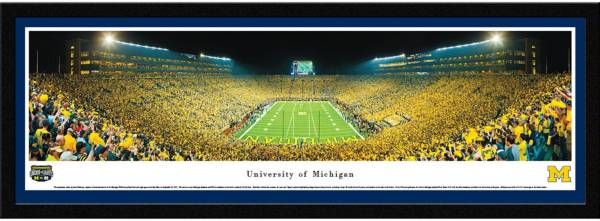 Blakeway Panoramas Michigan Wolverines Framed Panorama Poster product image