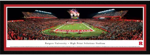 Blakeway Panoramas Rutgers Scarlet Knights Framed Panorama Poster product image